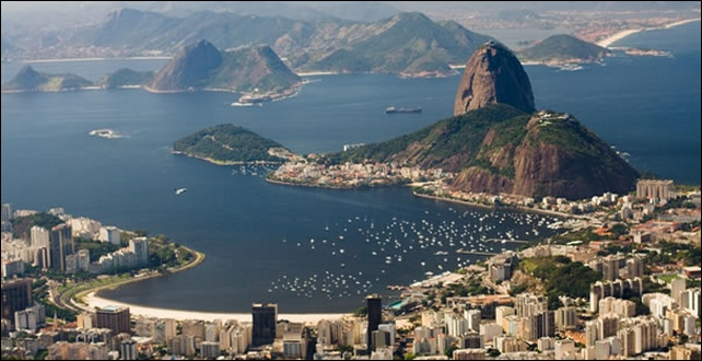 Vista panoramica de Rio de Janeiro