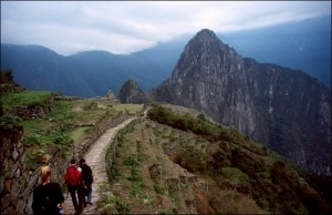 Llegando a Machu Picchu