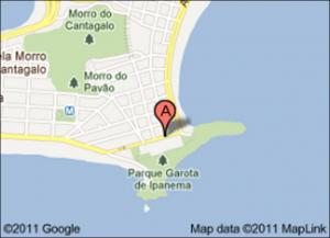 """Ubicación del """"Copacabana Praia Hotel"""""""