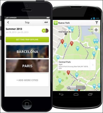 aplicaciones turísticas TouristEye para Android y Iphone